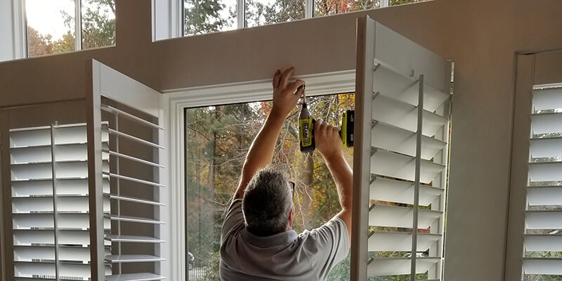 interior window shutter installation