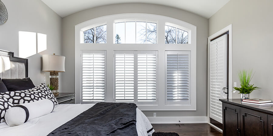 window treatment projects bedroom plantation shutters