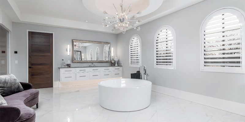 custom arch windows bathroom pricing