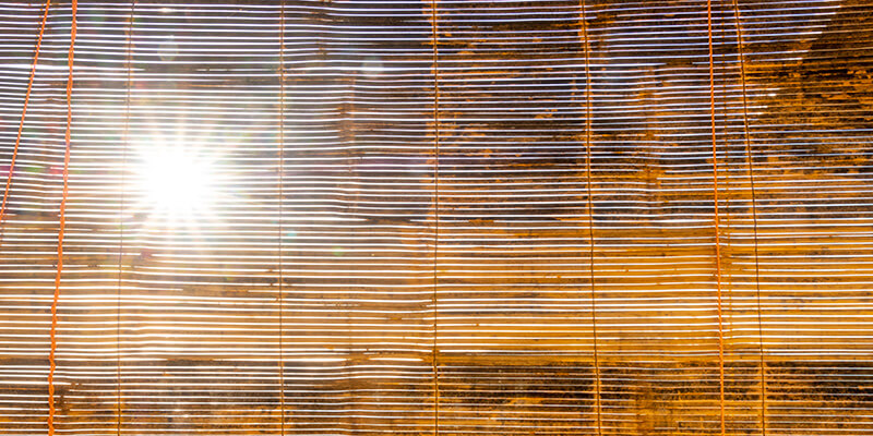 ancient chinese bamboo window blinds