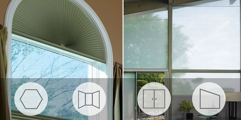 custom blinds specialty shape windows arches